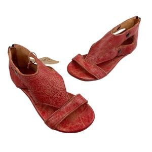 BED STU Red Leather Soto Sandals 6